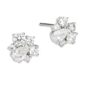 NWOT Nadri Cubic Zirconia Cluster Stud Earrings